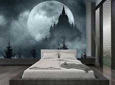 Forest Moon Night Castle Dark Cloud  Wall Mural Photo Wallpaper GIANT WALL DECOR
