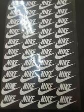 New listing 28 Pcs white Iron On Heat Press vinyl Flex Patch Logo Diy nike 2×3 inches