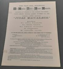1894 Sir Charles Halle Grand Concert Prog Manchester Edward Lloyd Emile Stanley