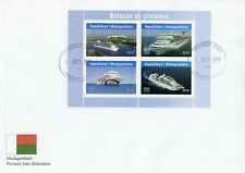 Madagascar 2019 FDC Cruise Ships 4v M/S Cover Bateaux Boats Nautical Stamps