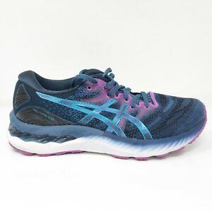 Asics Womens Gel Nimbus 23 1012A885 Blue Purple Running Shoes Lace Up Size 8