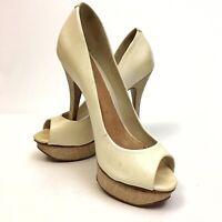 ✅❤️✅@ ALDO Women's 6 US 36 EUR Platform Pumps Stilettos Shoes Cream Leather EUC