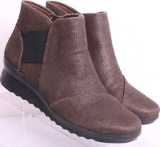 Clarks Cloudsteppers 13288 Bronze Wedge Fashion Ankle Booties Women's US 6 M
