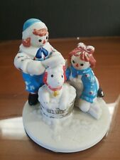 Vintage Flambro Raggedy Ann & Andy with Dog