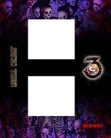 Mortal Kombat 3 Arcade Front Kick Panel Control Art Artwork MK3 MKIII CPO Midway