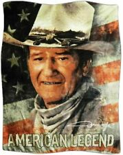 John Wayne Western Movies American Legend USA America  soft blanket NEW