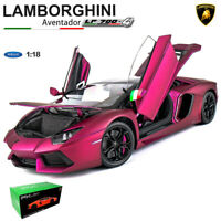 MATTE PURPLE 1:18 LAMBORGHINI AVENTADOR LP700-4 DIECAST CAR FX MODEL BY WELLY