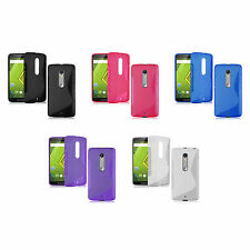Case For Motorola Moto X Play S-Line Silicone Gel Skin Shockproof Phone Cover