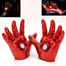 1 Pair Superhero Iron Man Infinity Gauntlet LED Light PVC Red Glove Cosplay Prop