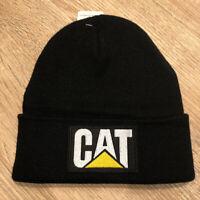 CAT Caterpillar Beanie Toboggan Winter Cap Hat Trucker Richardson Black