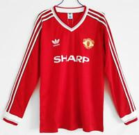 Manchester United 1986 Home long sleeve Retro Soccer Jersey Man United Shirt