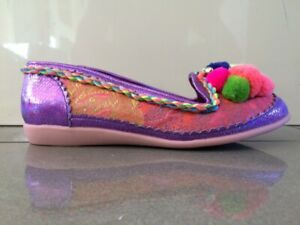 Irregular Choice Cara (A) Pink Slip on Flats Shoes