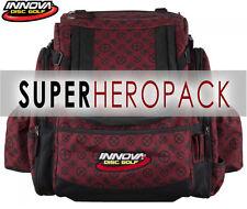 INNOVA SUPER HEROPACK BAG (HOLDS 25-30 DISCS) MAROON LOGO-PRINT INCLUDED: HEADER