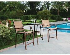Outdoor Bistro Bar Table Chair Set 3 Pieces Patio Furniture NEW