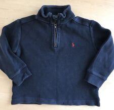 POLO Ralph Lauren Kid Toddler Boys Long Sleeve 1/4 Zip Sweater Shirt Top 4T Navy