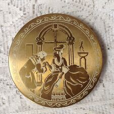 Vintage Stratton Vanity Fair Esque Gold Tone Make Up Compact, Made In England