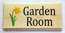 Personalised Daffodil Plaque / Sign / Gift - Home Garden Name Nanny Door