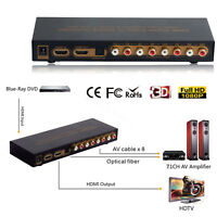 HDMI to HDMI Optical Digital to Analog Audio Extractor 7.1ch Converter LPCM DAC