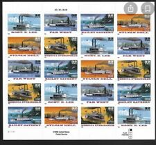 USA Scott 3095b 32c Riverboats Special Die Cut Mint Sheet - Special Die Cut