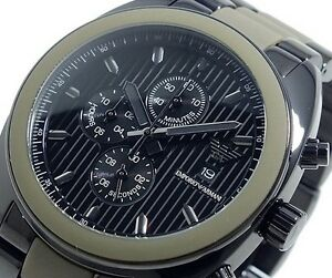 EMPORIO ARMANI MEN'S CHRONOGRAPH WATCH AR5953 BRAND NEW WITH CERTIFICATE