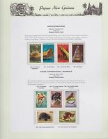 1971 PNG PAPUA NEW GUINEA Native Dwellings Fauna Mammals STAMP SET K-424