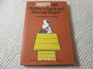 SNOOPY It Was a Dark and Stormy Night Charles M. Schulz 1971 HC/DJ 1st Edition