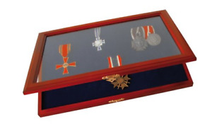 SAFE Premium Wooden Display Case for Medals and Badges of Honour