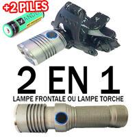 2020 • LAMPE FRONTALE 2 EN 1 LAMPE TORCHE / 9000LUMENS / PUISSANT LED FLASHLIGHT