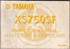 1978 YAMAHA XS750SF Motorcycle Factory Owners Manual English & French XS 750 SF