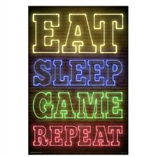 Eat Sleep Game Repeat Poster 61x91cm