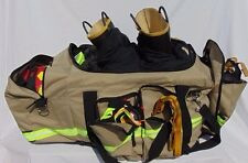 """Tan or Black"" XL Firefighter Bunker Gear Bag Turnout SCBA Step In Large"