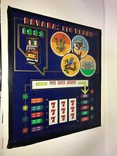 """Rare Nevada 119 Years Casino Las Vegas Slot Machine Glass 16"""" by 14.5"""""""