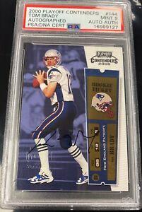2000 Playoff Contenders Rookie Ticket #144 Tom Brady RC AUTO PSA 9 MINT PSA/DNA