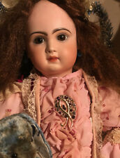 Perfect doll Tête Jumeau Character Closed Mouth Pressed Bisque Doll size 75 Cm