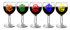 harry pot,crest your text Vinyl Decal Wine Glass Laptops ipads water bottles
