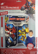 Giant Transformers Wall Party Decoration Kit (6' Tall)5 Decorations inc Birthday