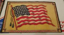 Antique Felt Tobacco Cigarette Cigar Premium Flag Large American Flag 1900s