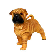More details for shar pei puppy resin figure statue cute dog pet breed kennel lifesize 沙皮 wrinkle