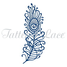 Fancy Feather PEACOCK FEATHER Die Cutting Die TATTERED LACE Die D1291 New