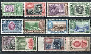 British Honduras KGVI 1938-47 Definitive set of 12 SG150/61 MNH