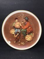 Norman Rockwell Four Seasons Ghostly Gourds Limited Edition Collector Plate 1976