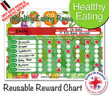 Fun to Use Reusable Child Healthy Eating Food Reward Chart - Dry Wipe & Magnetic