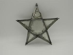 Hanging Pentagram/Star Iron Lantern Tea Light/T-Lite Holder with 3 Free T Lights