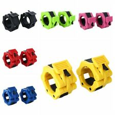 2pcs 2'' Weight Lifting Bar Collar Barbell Dumbell Clips Clamp Weight Bar Lock