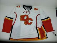AHL Quad City Flames Hockey Reebok Jersey White Size Adult XL NEW WITH TAGS