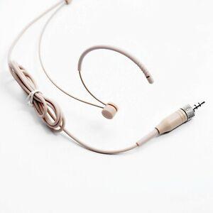 1X New Earhook Headset Mic Headworn Microphone For Sennheiser Wireless Beige