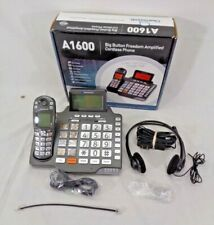 CLEAR SOUNDS LARGE BUTTON AMPLIFIED CORDLESS PHONE A1600