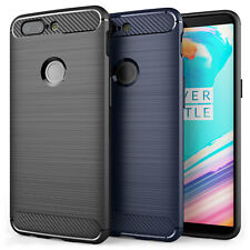 Soft Slim Silicone TPU Gel Carbon Fibre Pattern Case Cover for the OnePlus 5T