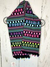 HANNA ANDERSSON GIRLS Pink Green Crochet SCARF NWT~ONE SIZE