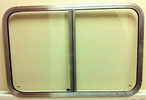 Horsebox Window 36 x 24 Side Sliders Mill & Clear